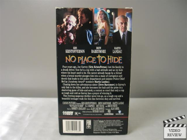 No Place to Hide (1993 film) No Place To Hide VHS Kris Kristofferson Drew Barrymore Martin