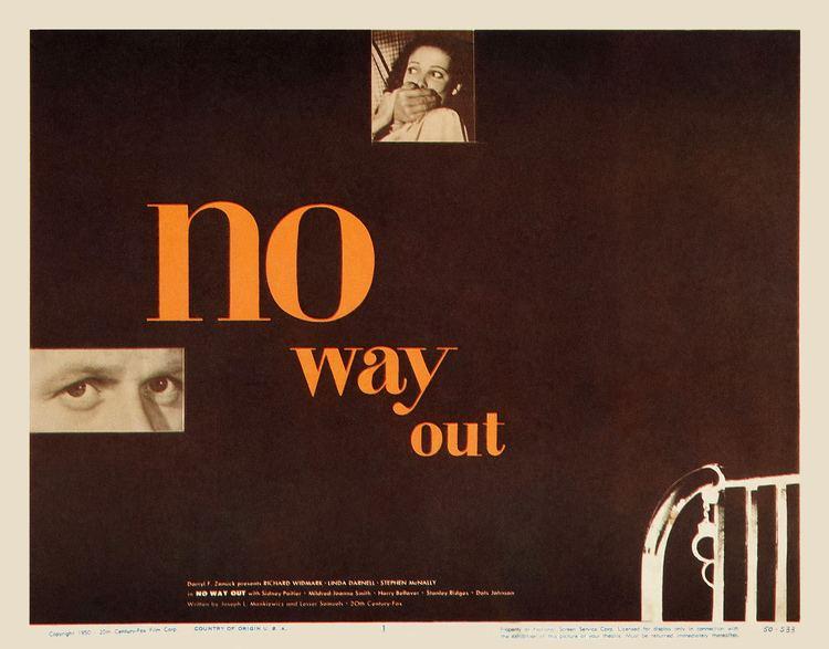 No Way Out (1950 film) No Way Out 1950