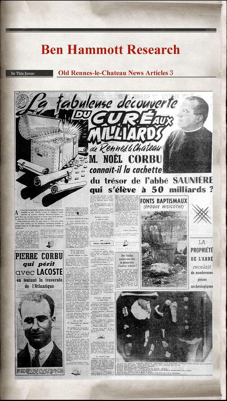 Noël Corbu Noel Corbus RennesleChateau Story Newspaper Articles