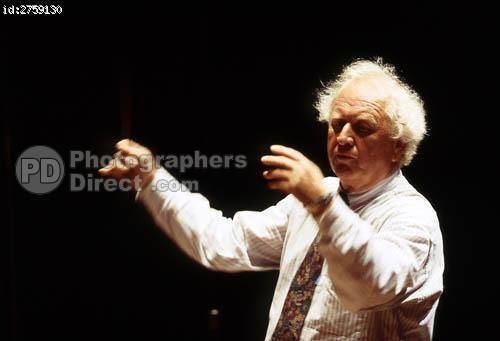Norbert Balatsch PD Stock photo Norbert Balatsch Conducting Orchestra