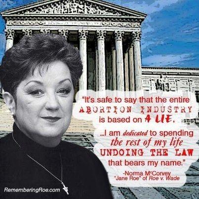 Norma McCorvey A Voice for Hope Roe v Wade and Doe v Bolton both based