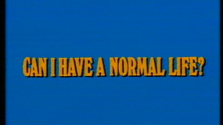 Normal Life Can I Have A Normal Life Short Film Australian Film Television and