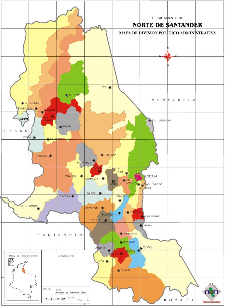 Norte de Santander Department in the past, History of Norte de Santander Department