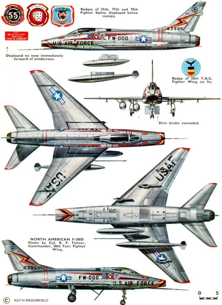 North American F-100 Super Sabre North American F100 Super Sabre USA 20th TFW USAF F100D65
