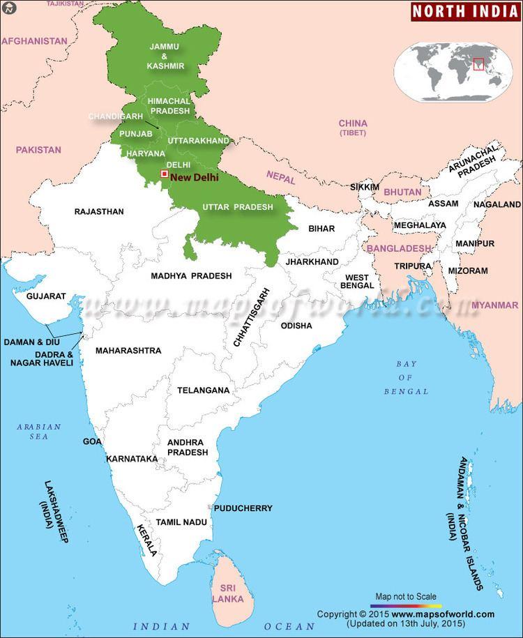 North India India Map