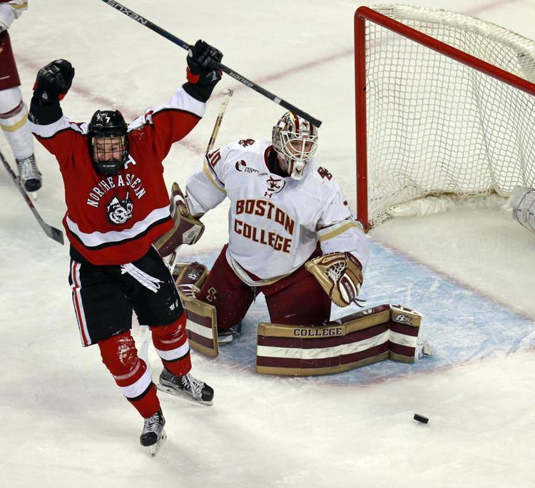 10eb6bc46 Northeastern Huskies men s ice hockey Redhot Northeastern beats BC to  advance to Hockey East final