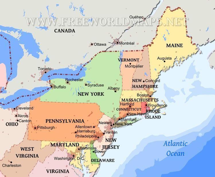 Northeastern United States Northeastern US maps