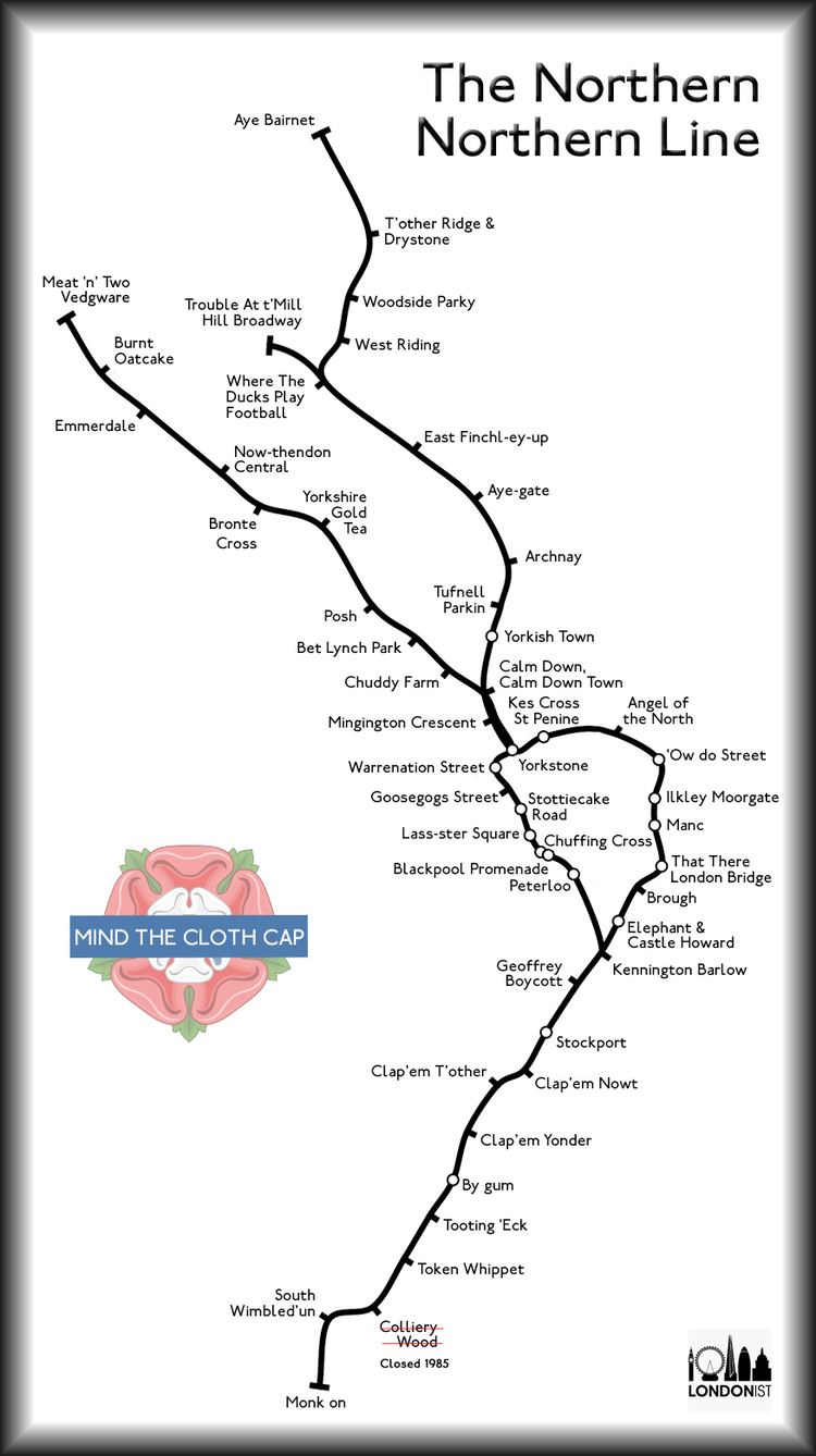 Northern line What The Northern Line Would Look Like If It Was Actually Northern