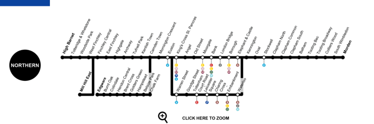 Northern line Northern Line London Map Timetable Service Status
