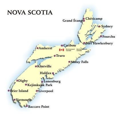 Nova Scotia Weather Conditions and Forecast by Locations