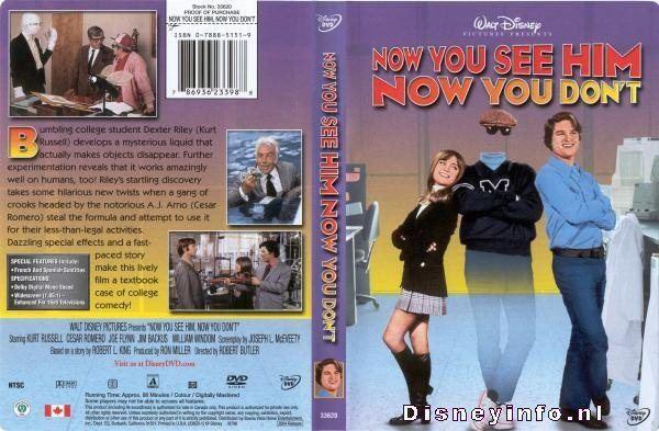 Now You See Him, Now You Don't Now You See Him Now You Dont 786936233988 Disney DVD Database