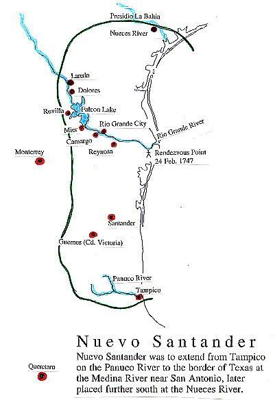 Nuevo Santander Map