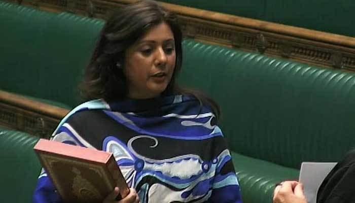Nus Ghani Pakistanorigin British MP Nus Ghani takes oath in Urdu to honour