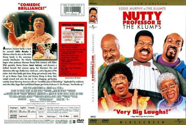 Nutty Professor II: The Klumps Nutty Professor IIThe Klumps Movie DVD Scanned Covers 124Nutty