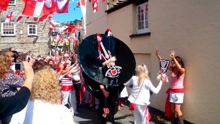 'Obby 'Oss festival Obby Oss Day In Padstow Cornwall 2012Part 1MP4 YouTube