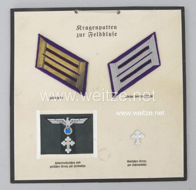 Oberkommando des Heeres Wehrmacht Heer Satz Krageneffekten und Mtzenabzeichen fr