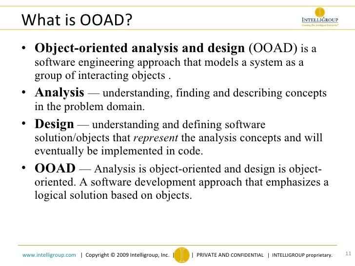 Object Oriented Analysis And Design Alchetron The Free Social Encyclopedia