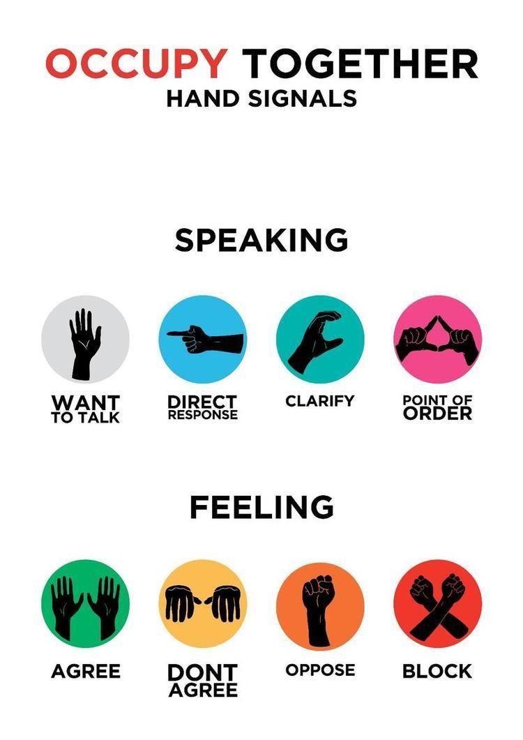 Occupy movement hand signals