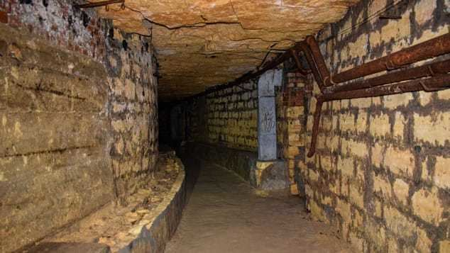 Inside the Odessa catacombs
