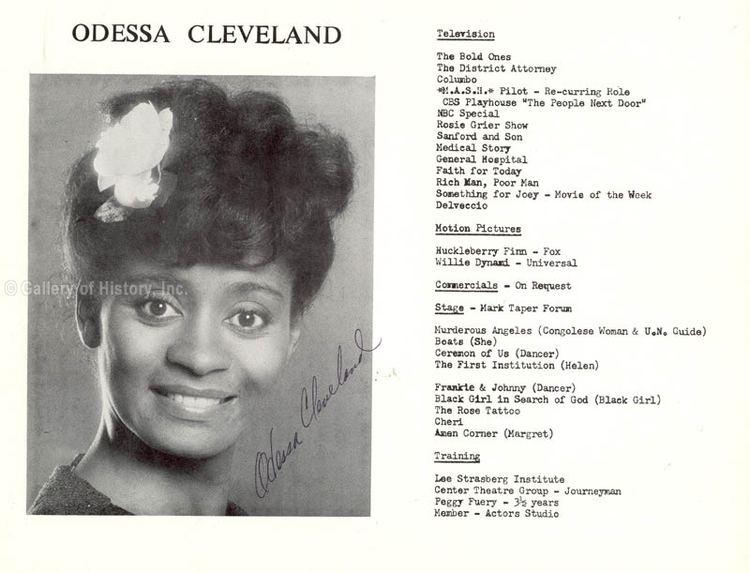 Odessa Cleveland Odessa Cleveland Photograph Signed Autographs Manuscripts
