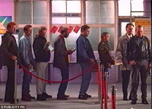 Off the Dole movie scenes The jobcentre queue become an iconic moment in the Full Monty film as the jobless