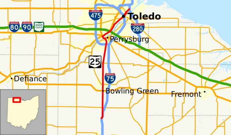 Ohio State Route 25 - Alchetron, The Free Social Encyclopedia on i-65 route map, i-75 mile marker map, i-75 ohio map, weather i-75 map, on the usa i-75 map, interstate 75 map, interstate route map, ohio route map, i-75 florida map,