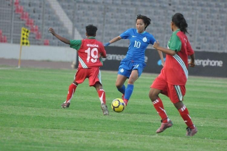 Oinam Bembem Devi Woman footballers Oinam Bembem Devi Bala Devi and