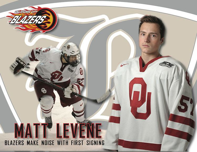 Oklahoma City Blazers (2014–) Blazers Sign OU Forward Matt Levene Oklahoma City Blazers Hockey