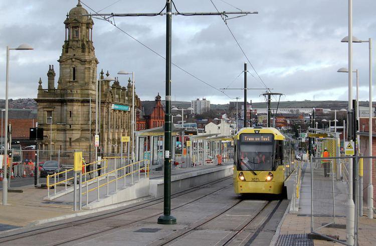 Oldham Mumps tram stop