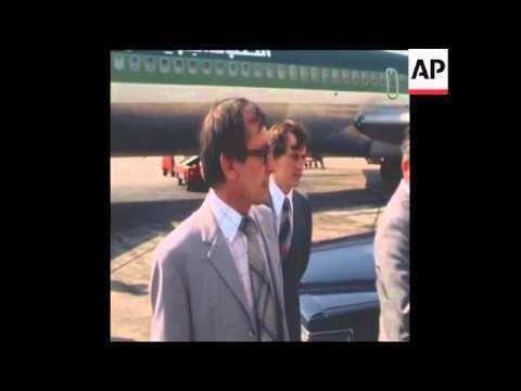 Oleg Grinevsky SYND 26 5 79 RUSSIAN ENVOY OLEG GRINEVSKY ARRIVES IN LEBANON YouTube