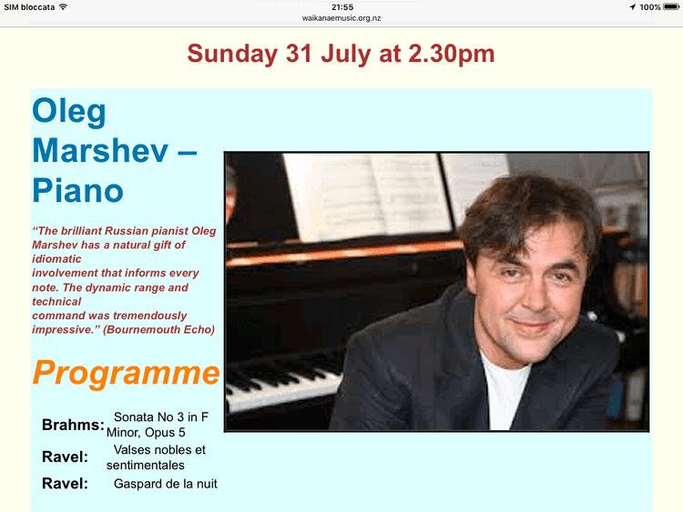Oleg Marshev Oleg Marshev Concert pianist Professor Page 2