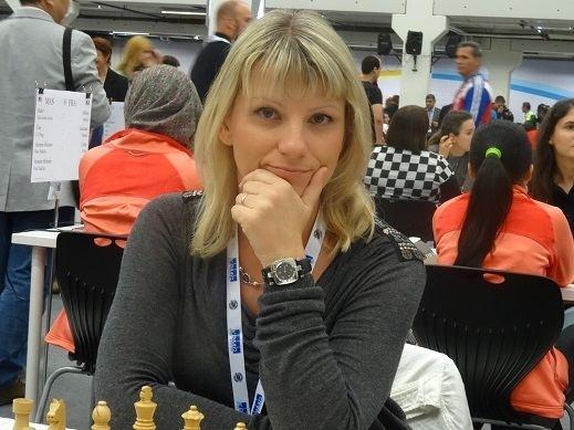 Olga Alexandrova Cuba pelea por el oro Chess Ajedrez