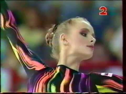 Olga Gontar Olga GONTAR BLR clubs 1994 Paris worlds EF YouTube