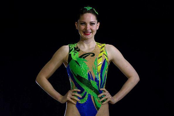 Olivia Allison Olivia Federici in British Synchronised Swimming Team Portrait