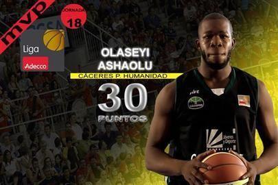 Olu Ashaolu Olu Ashaolu un MVP de lo ms Olucinante Baloncesto FEBes