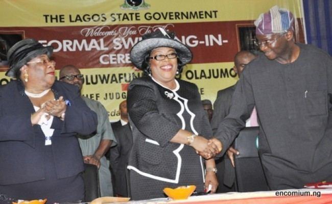 Oluwafunmilayo Olajumoke Atilade Gov Fashola SwearsIn Hon Justice Oluwafunmilayo Olajumoke Atilade