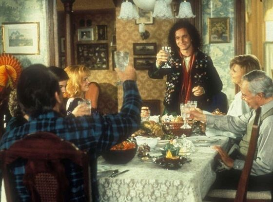 On Distant Shores movie scenes Good heavens yes it came to this Pauly Shore movie though it may have been Son in Law did have a very uncomfortable Thanksgiving dinner scene