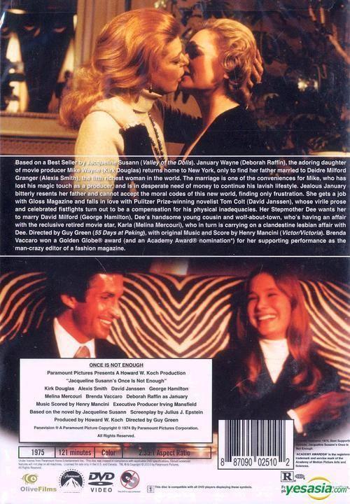 Jacqueline Susann's Once Is Not Enough (film) YESASIA Jacqueline Susanns Once Is Not Enough 1975 DVD US
