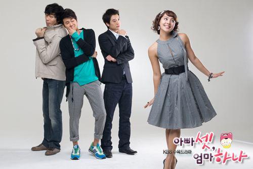 One Mom and Three Dads One Mom and Three Dads 2008 Review by biege Korean Dramas