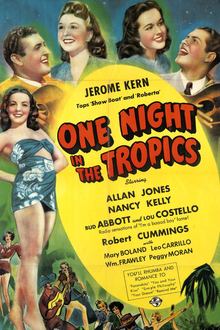 One Night in the Tropics wwwgstaticcomtvthumbmovieposters26751p26751