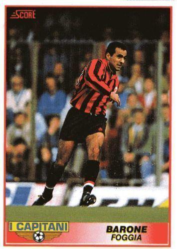 Onofrio Barone FOGGIA Onofrio Barone 381 SCORE 1992 Italian Football Trading Card