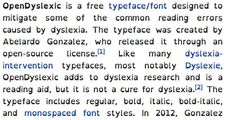 OpenDyslexic - Alchetron, The Free Social Encyclopedia