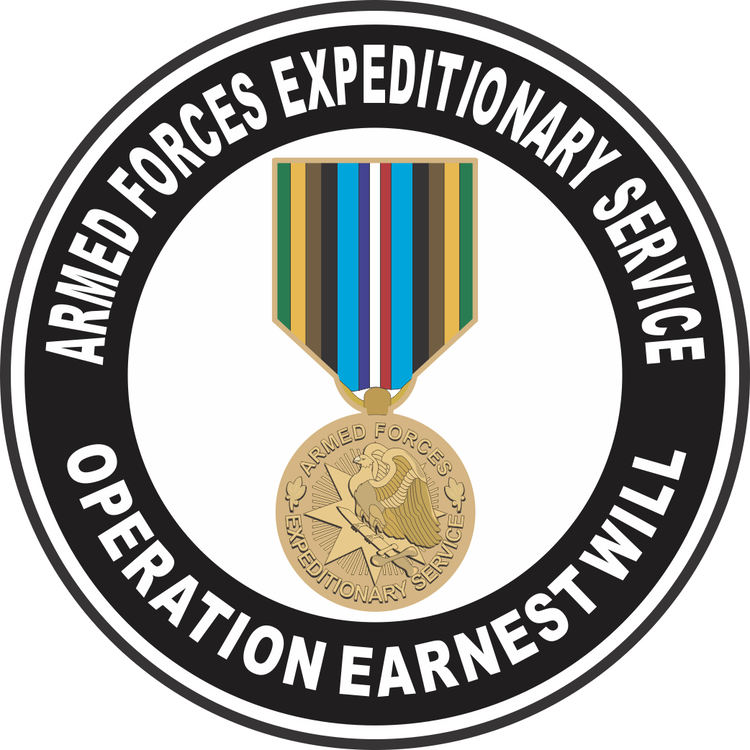 Operation Earnest Will Forces Expeditionary Medal Operation Earnest Will Decal