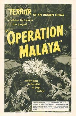 Operation Malaya (film) movie poster