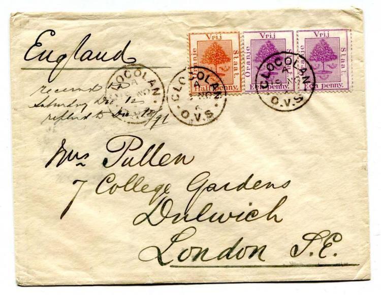 Orange River Colony Chris Rainey British Commonwealth postal history Orange River Colony