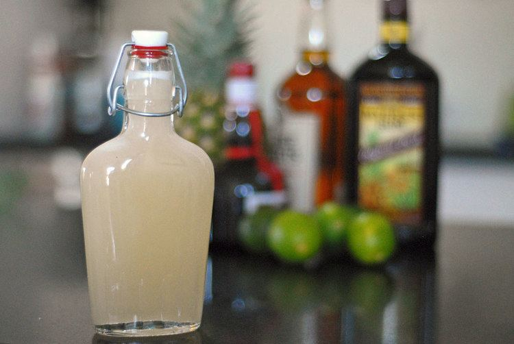 Orgeat syrup Classic Mai Tai with homemade orgeat syrup Warm house cold beer