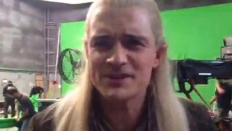 Orlando Bloom The Hobbit Orlando Bloom Says Goodbye to Legolas With Viral Video