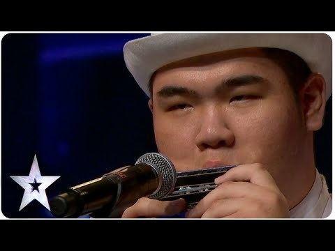 Oscar Chu Oscar Chu Plays 8 Harmonicas Asias Got Talent 2015 Ep 2 YouTube