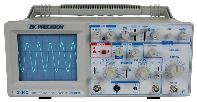Oscilloscope Model 2120C 30 MHz Dual Trace Analog Oscilloscope With Probes BampK
