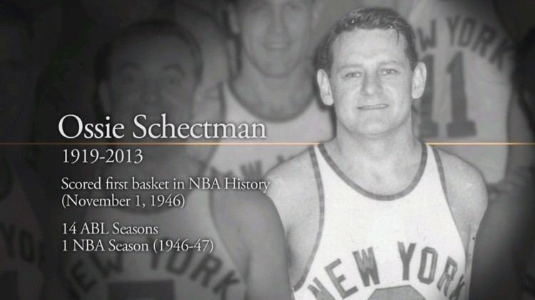 Ossie Schectman Ossie Schectman 19192013 NBAcom